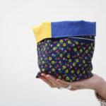 cestino di stoffa – Sartoria Sociale – Palermo