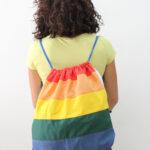 sacca a spalla – arcobaleno – sartoria sociale