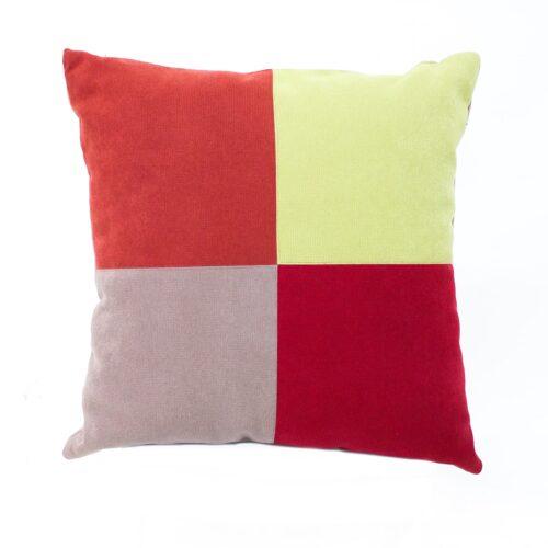 cuscino - arancione rosso giallo - sartoria sociale