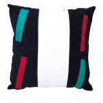 cuscino bianco nero verde rosso – sartoria sociale – palermo