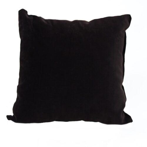 Cuscino nero e argento - Sartoria Sociale