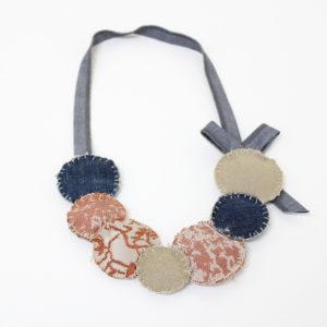 collana di stoffa - cerchi - sartoria sociale - palermo