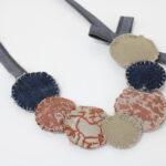 collana di stoffa – cerchi – sartoria sociale – palermo