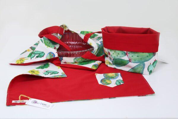 set da cucina - portateglie cestino tovaglietta - sartoria sociale