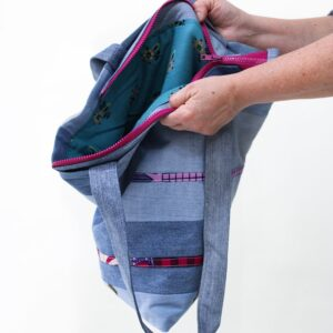 borsa patchwork - sartoria sociale - moda etica