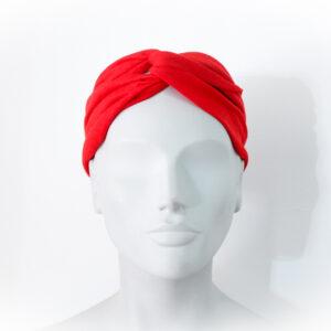fascia per capelli rossa - sartoria sociale - moda etica