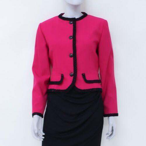 giacca fuxia - moda sostenibile - sartoria sociale