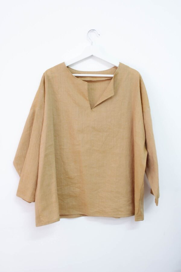 Casacca color sabbia - sartoria sociale - abbigliamento sostenibile