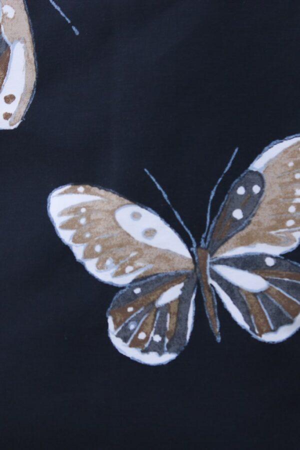 borsa nera con farfalle - sartoria sociale - abiti sostenibili online