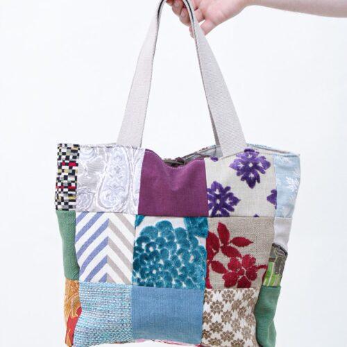 Borsa patchwork Stylish flowers - Sartoria Sociale - moda etica