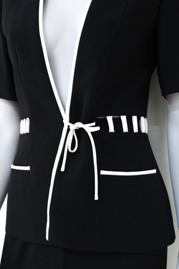 Tailleur nero a manica corta - Sartoria Sociale Palermo