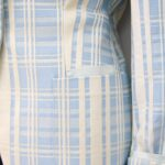 Giacca color panna e azzurra – Sartoria Sociale Palermo