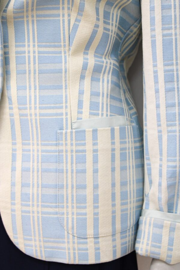 Giacca color panna e azzurra - Sartoria Sociale Palermo