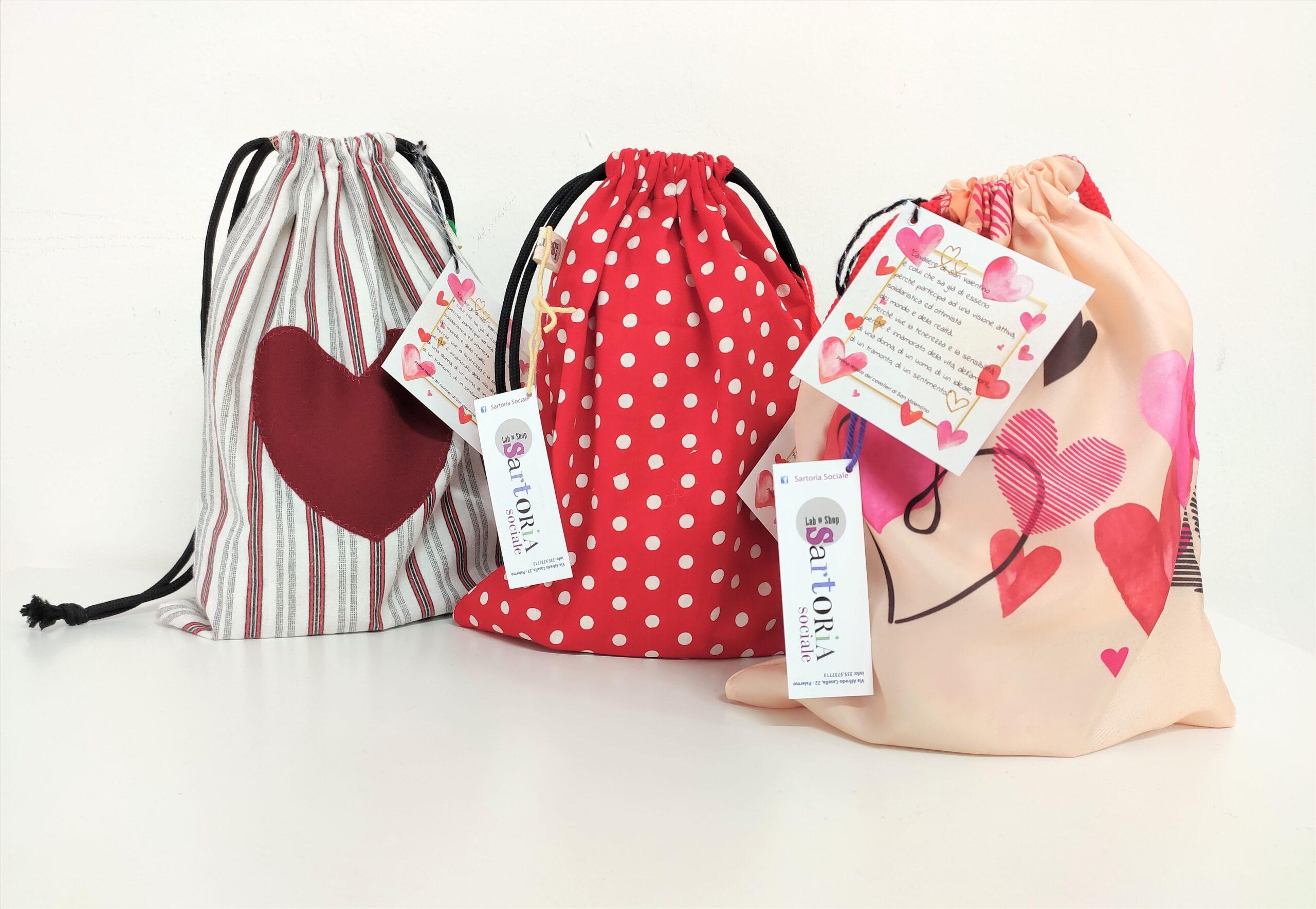 sacchetti di san valentino - sartoria sociale e pasticceria scimeca