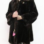pelliccia marrone scuro