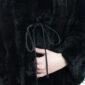 pelliccia nera corta - Sartoria Sociale Palermo