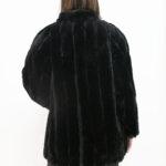 pelliccia nera corta – Sartoria Sociale Palermo