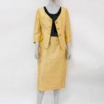 tailleur 100% seta color ocra – abiti vintage online – Sartoria Sociale Palermo