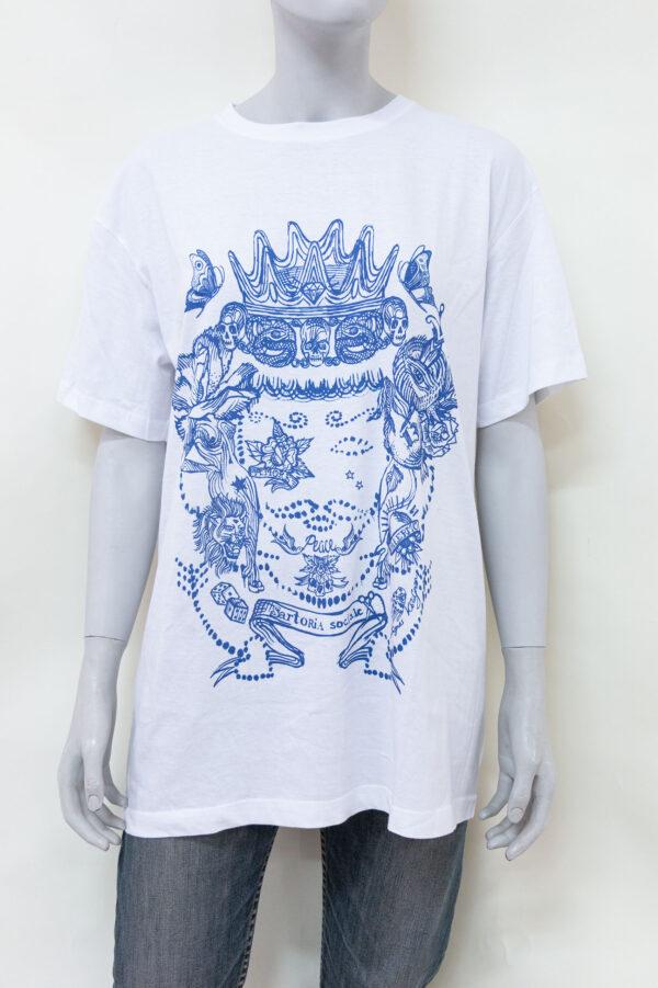 t shirt agnes kolignan moro blu -