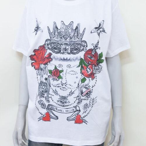 t-shirt by agnes kolignan - sartoria sociale - moro rosso