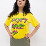 t shirt don't gove up - sartoria sociale palermo