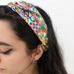 Fascia per capelli a incrocio – Abbigliamento sostenibile online – Sartoria Sociale