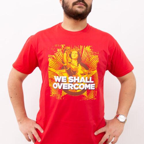 T-shirt we shall overcome - Sartoria sociale palermo