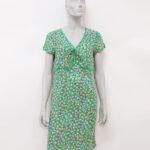 abito verde di seta – Sartoria Sociale – Abiti di seconda mano online