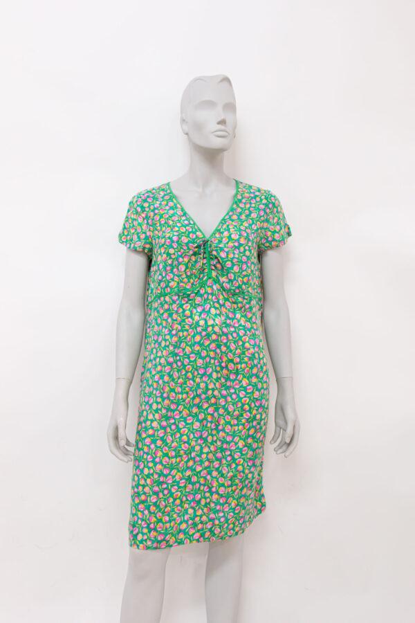 abito verde di seta - Sartoria Sociale - Abiti di seconda mano online