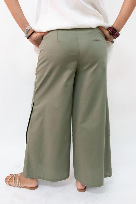 pantalone verde militare - sartoria sociale palermo
