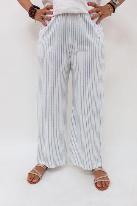 pantalone a righe bianche e blu - sartoria sociale palermo