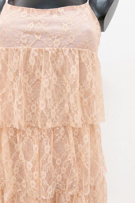 abito rosa cipria con balze - sartoria sociale palermo